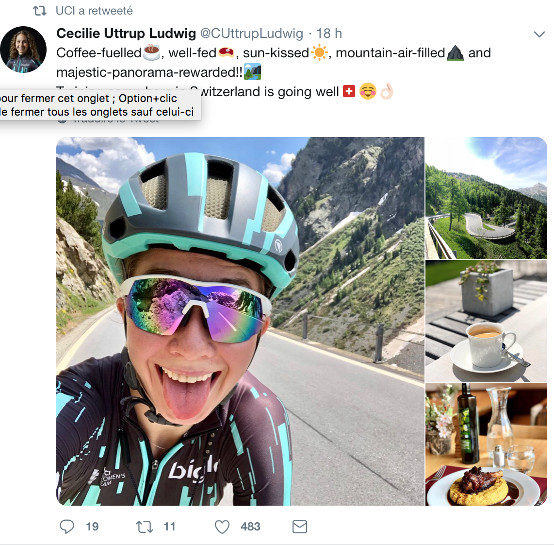 Cecilie Ludwig se prépare en Suisse