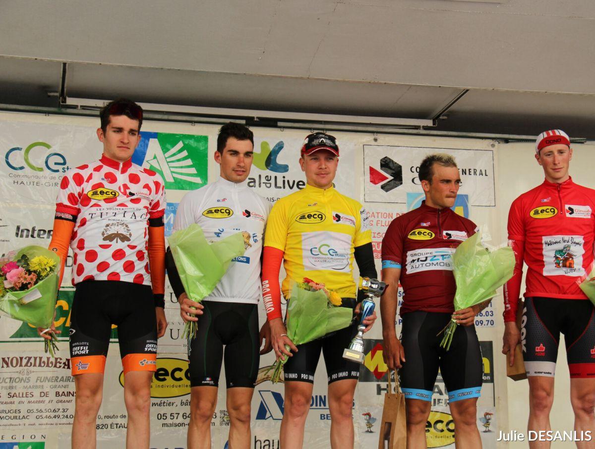 Classement général du Tour du Canton Estuaire remporté par Michael Guichard