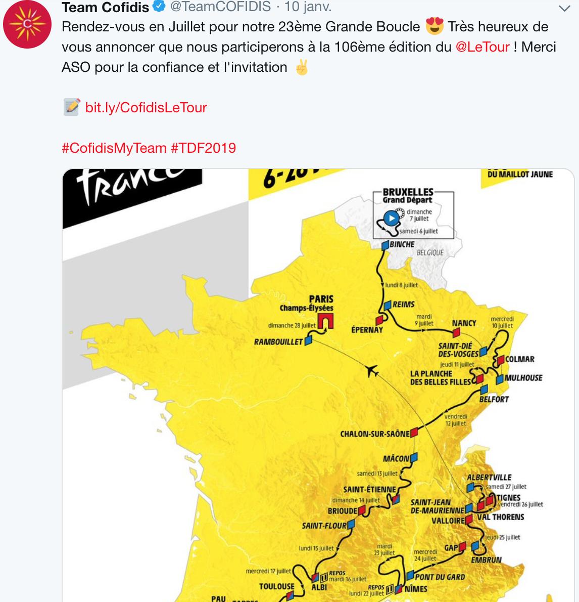 Cofidis sur le Tour 2018