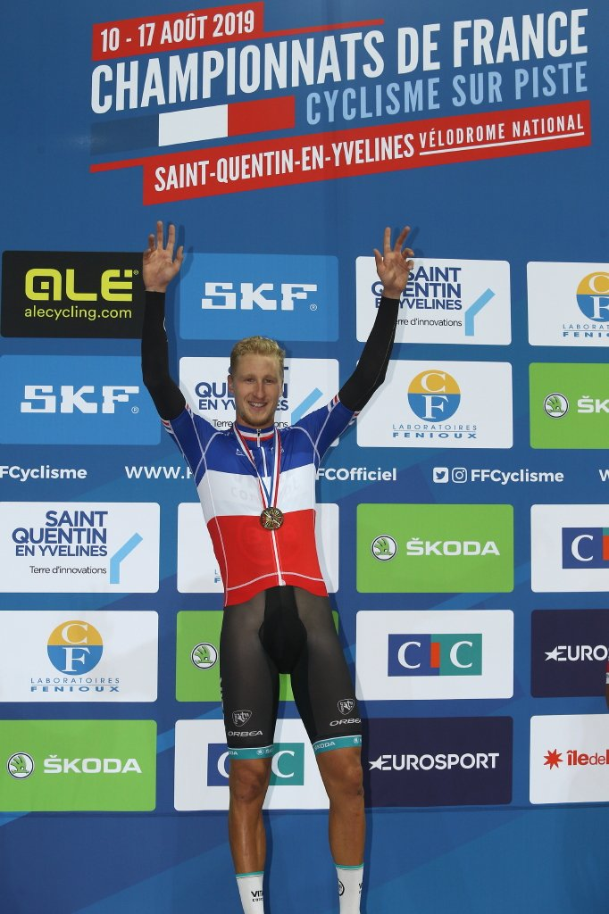 Corentin Ermenault Champion de France de poursuite