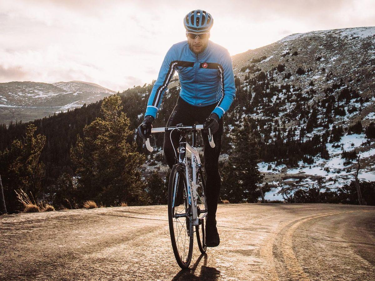cycliste hiver