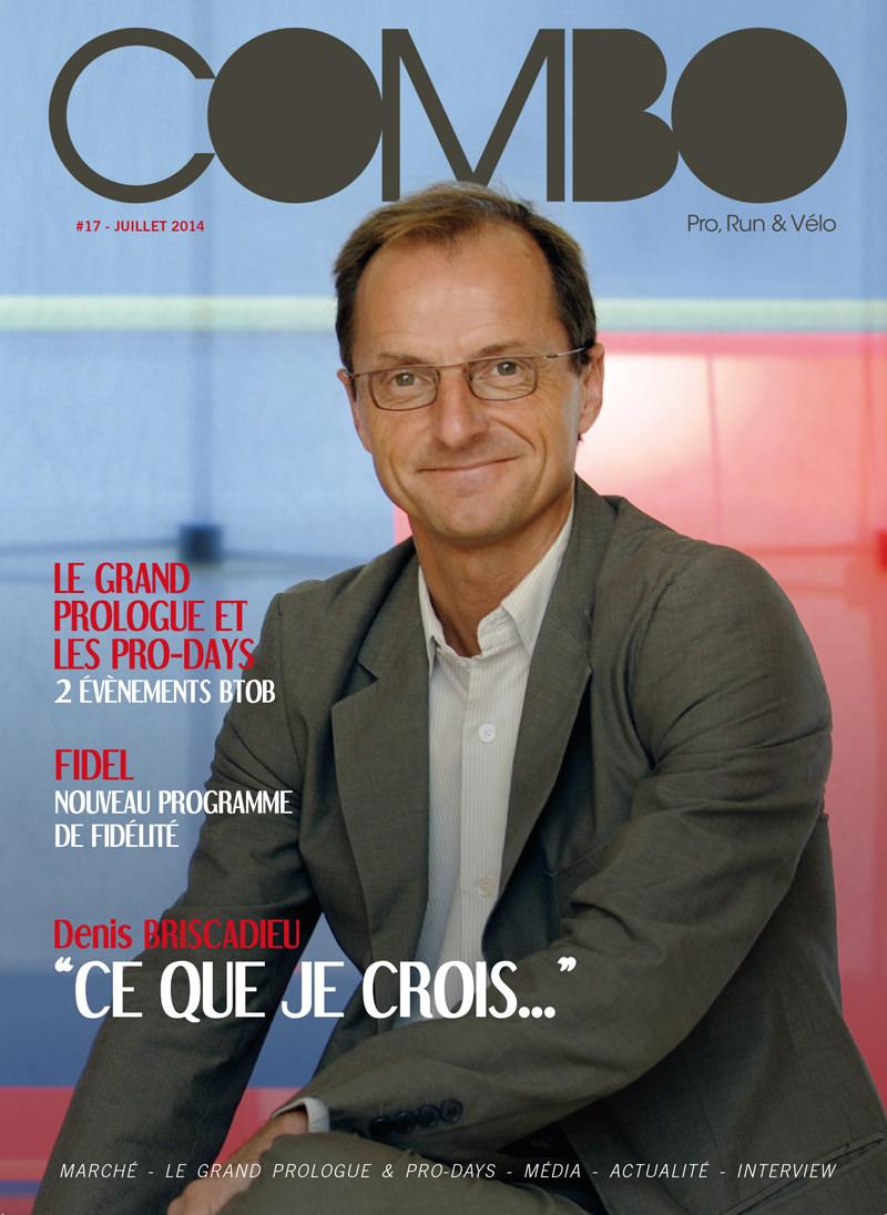Denis Briscadieu sur la une du magazine Combo en juillet 2014