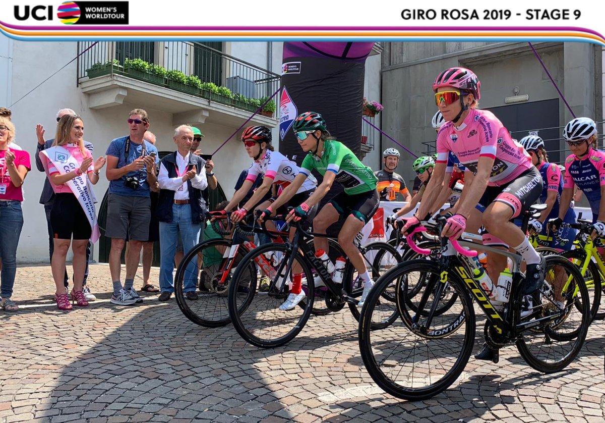 Départ de la 9ème étape du Giro Rosa