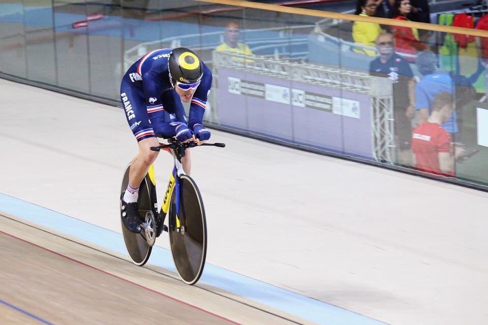 Dorian Foulon lors de sa poursuite individuelle aux championnats du monde paracyclisme 2018
