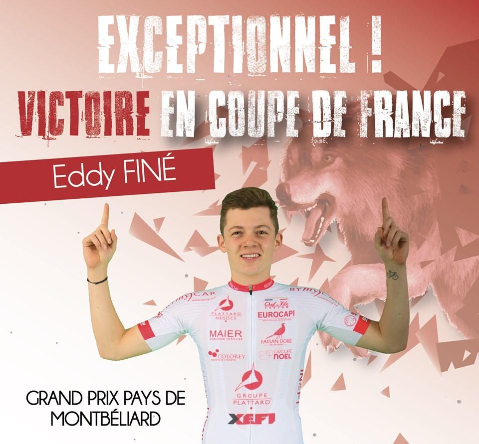 Eddy Finé sur le GP Montbéliard
