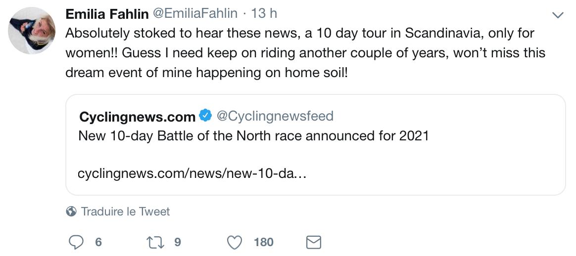 Emilia Fahlin ravie devant la nouvelle