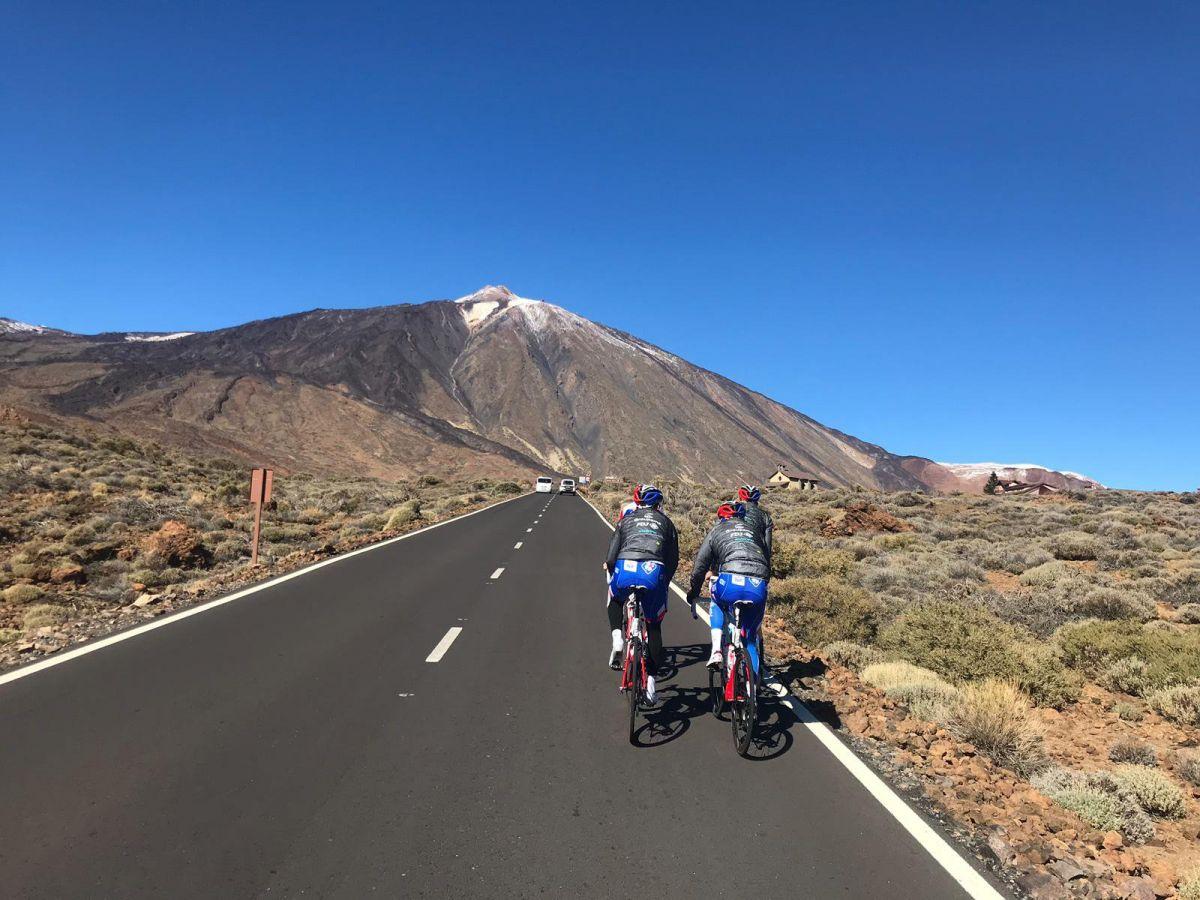 Equipe Groupama-FDJ à Teide