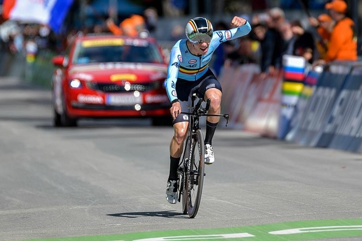 Evenepoel vainqueur sur les championnats d'Europe du CLM