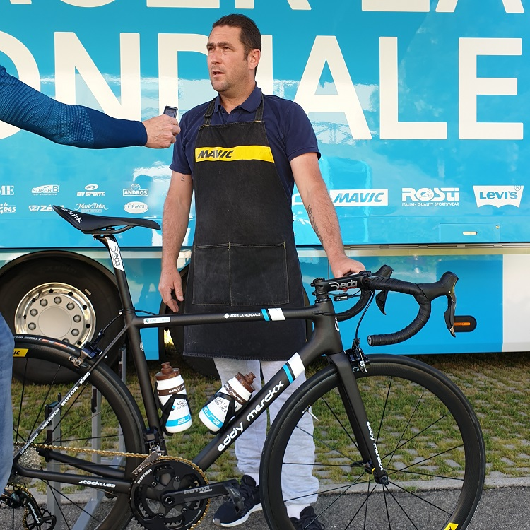 Franck Boudot lors du Giro 2019