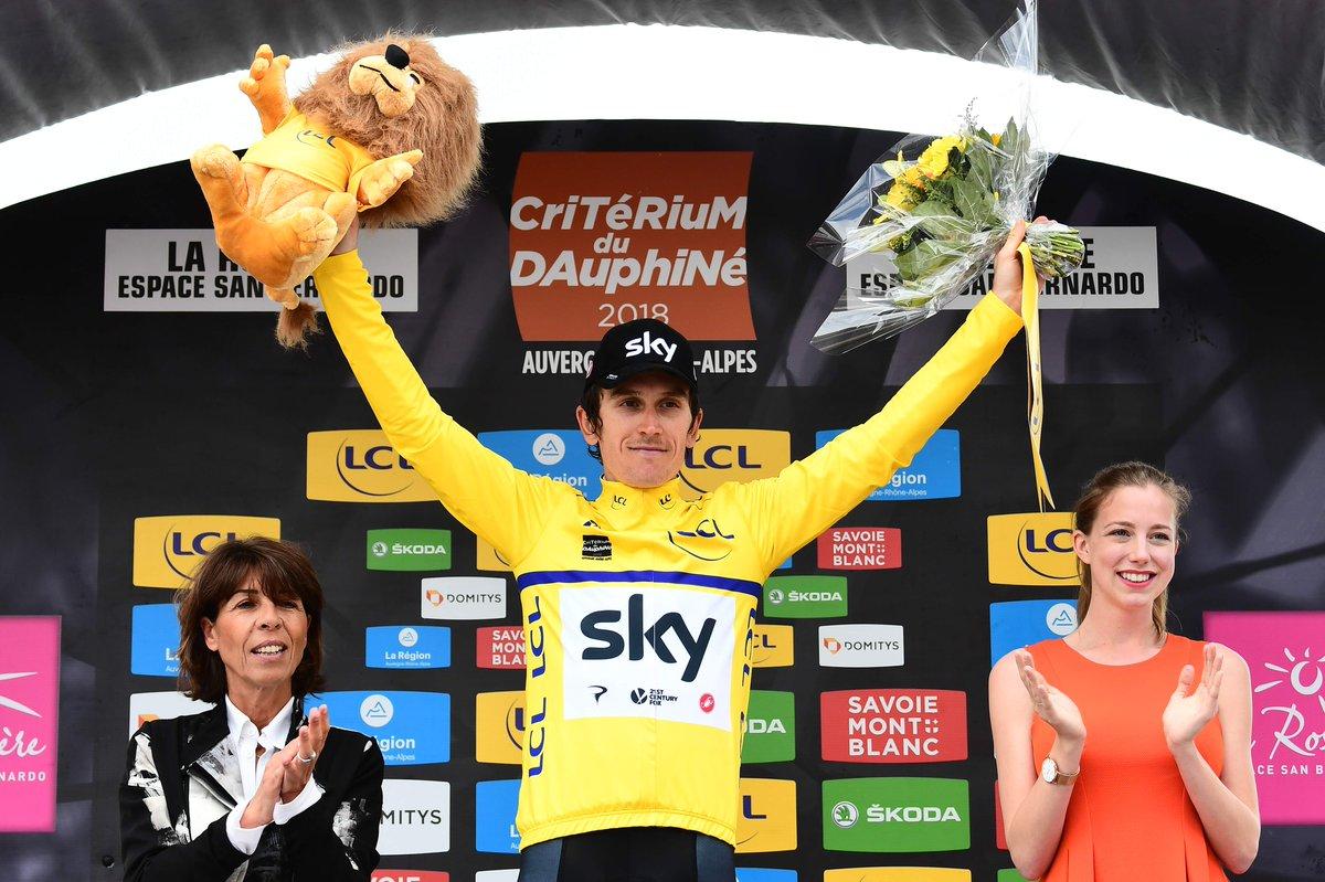 Geraint Thomas vainqueur du Dauphiné 2018