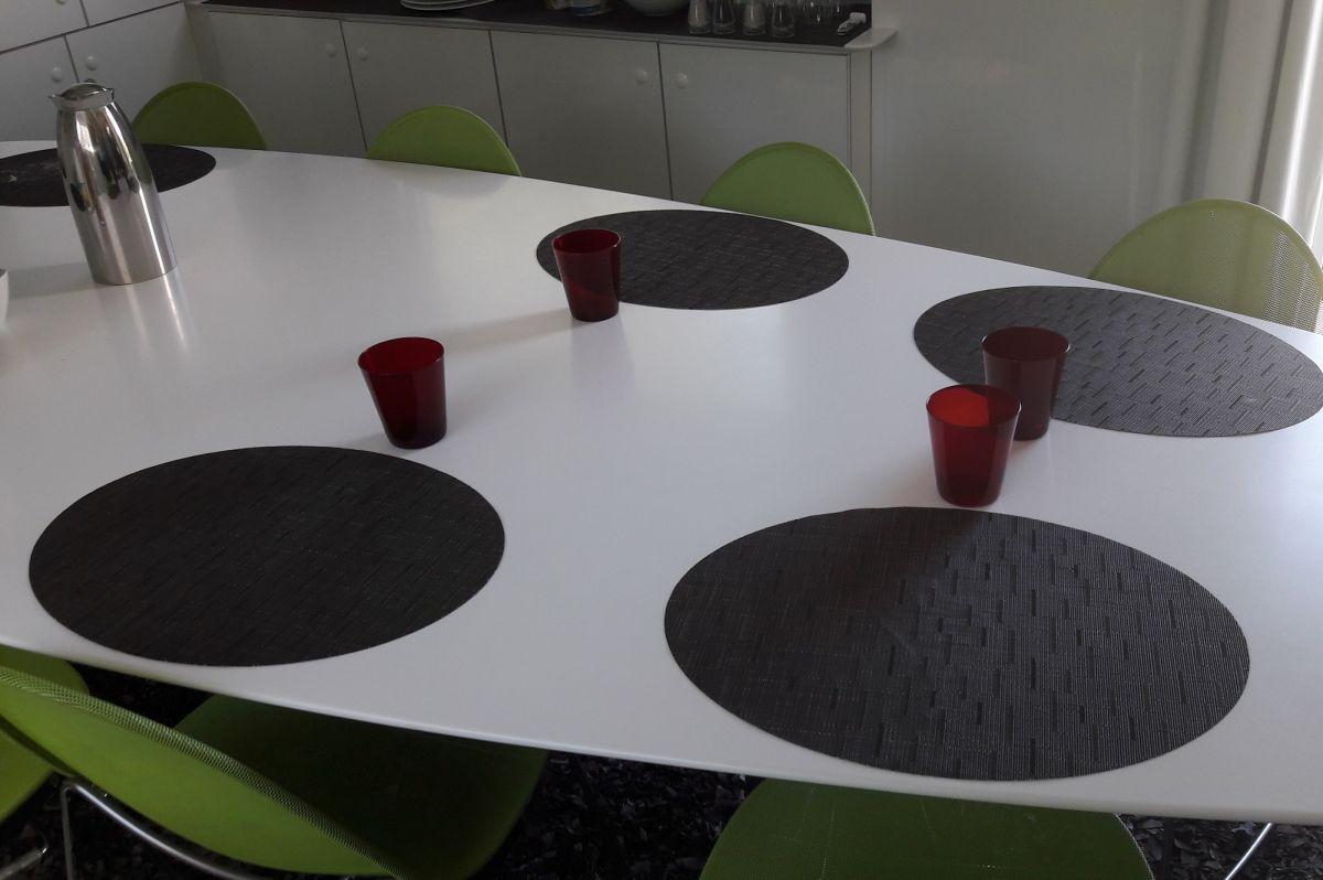 l'espace restaurant pour les coureurs du Team Total-Direct-Energie