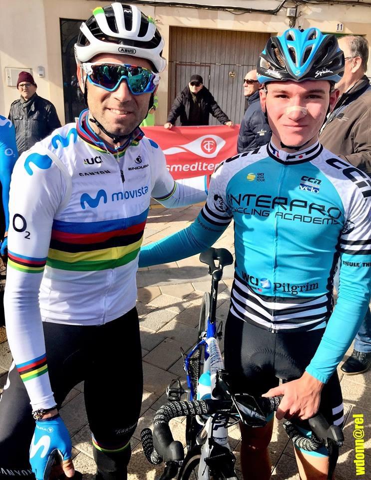 La fierté d'être aux côtés du champion du monde Alejandro Valverde