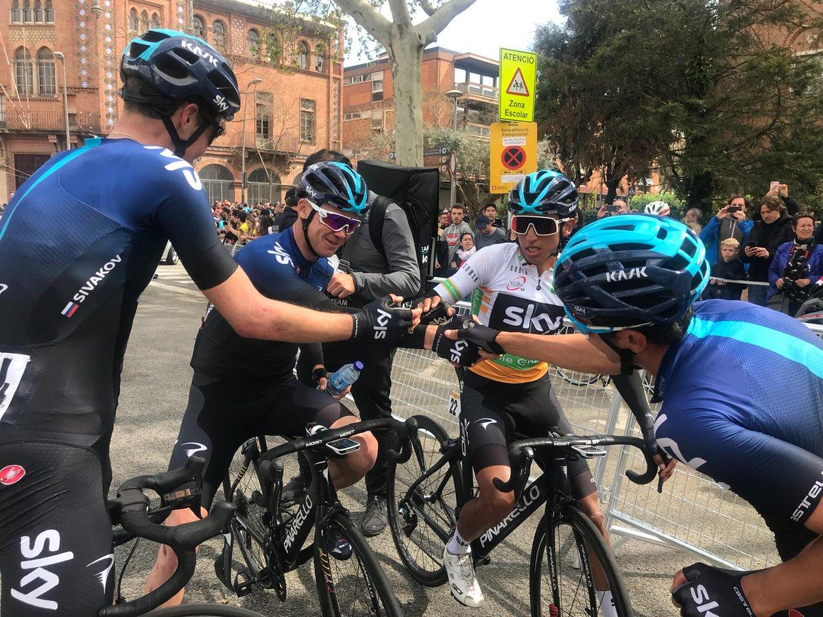 La Team Sky en Catalogne