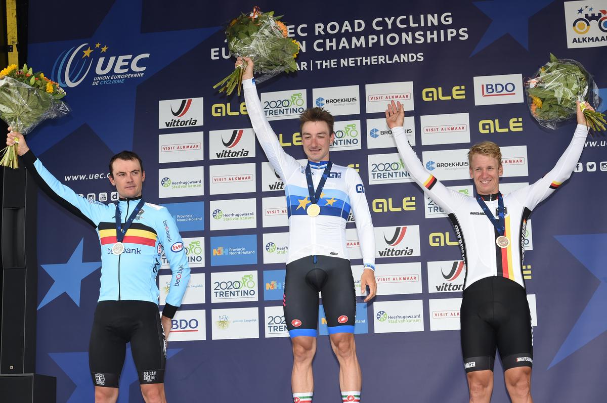 Le podium de ces championnats d'Europe 2019