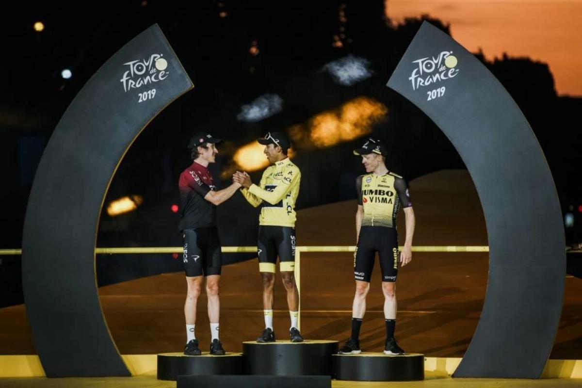 Le podium du Tour 2019