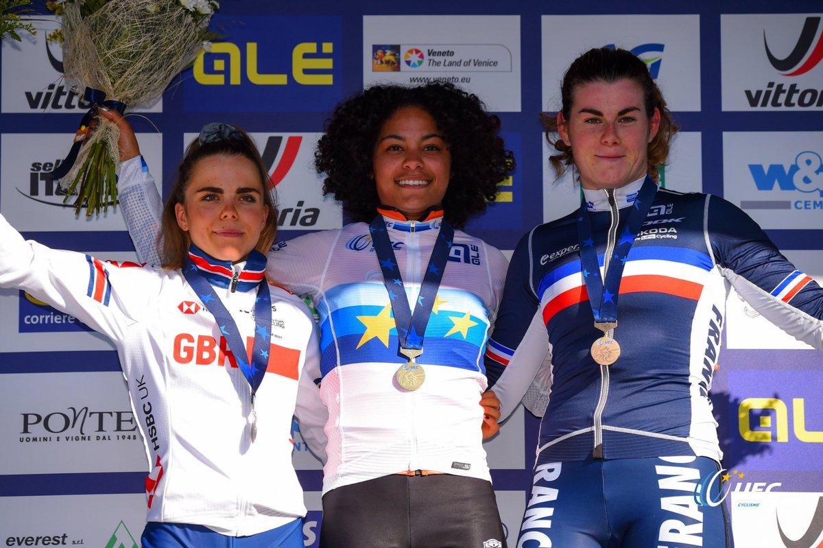 Le podium U23 Femmes