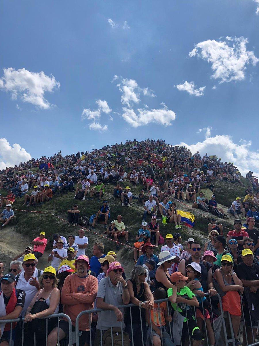 Le public au sommet du Tourmalet