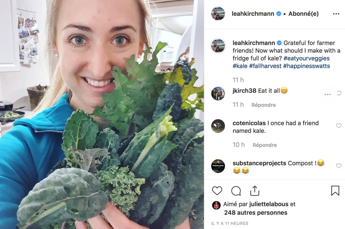 Leah Kirchmann passionnée de cuisine