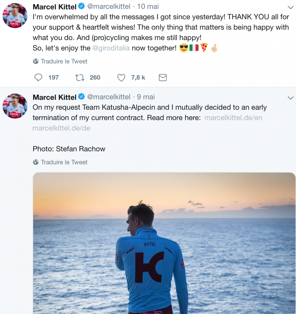 Marcel Kittel fait une pause