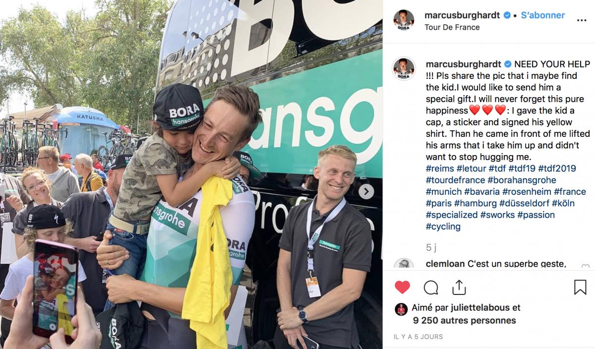 Marcus Burghardt touché par un petit garçon