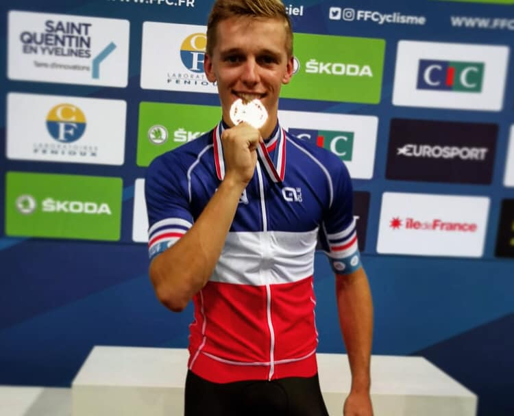 Mathis Ducruet Champion de France de la course aux points