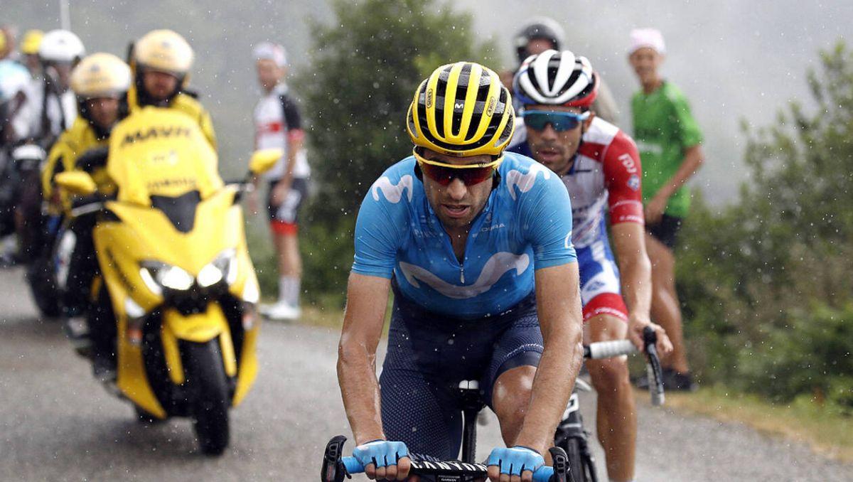 Mikel Landa dans la montée du Prat d'Albis