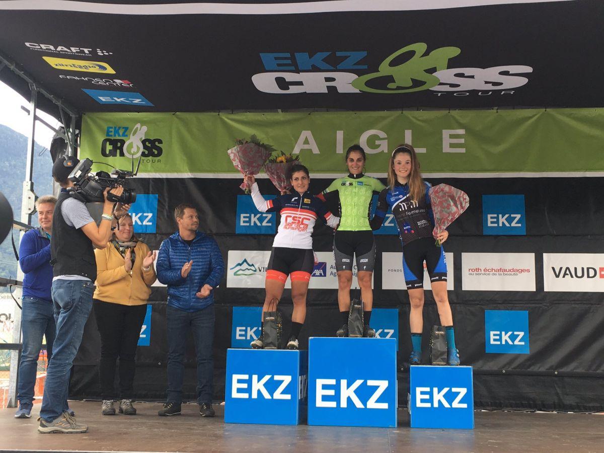 Perrine Clauzel première leader de l'EKZ CrossTour
