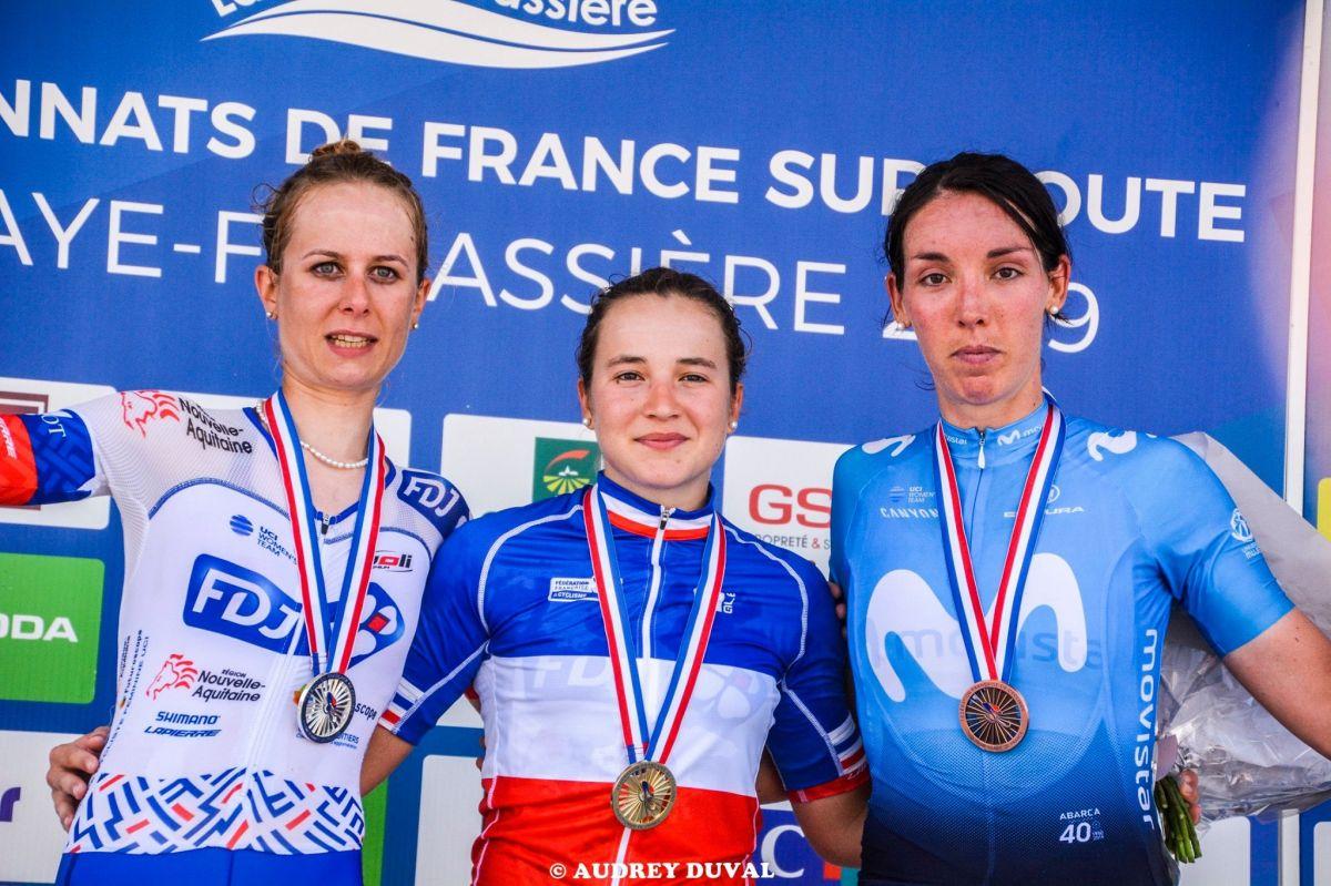Podium des Championnats de France Elites Femmes