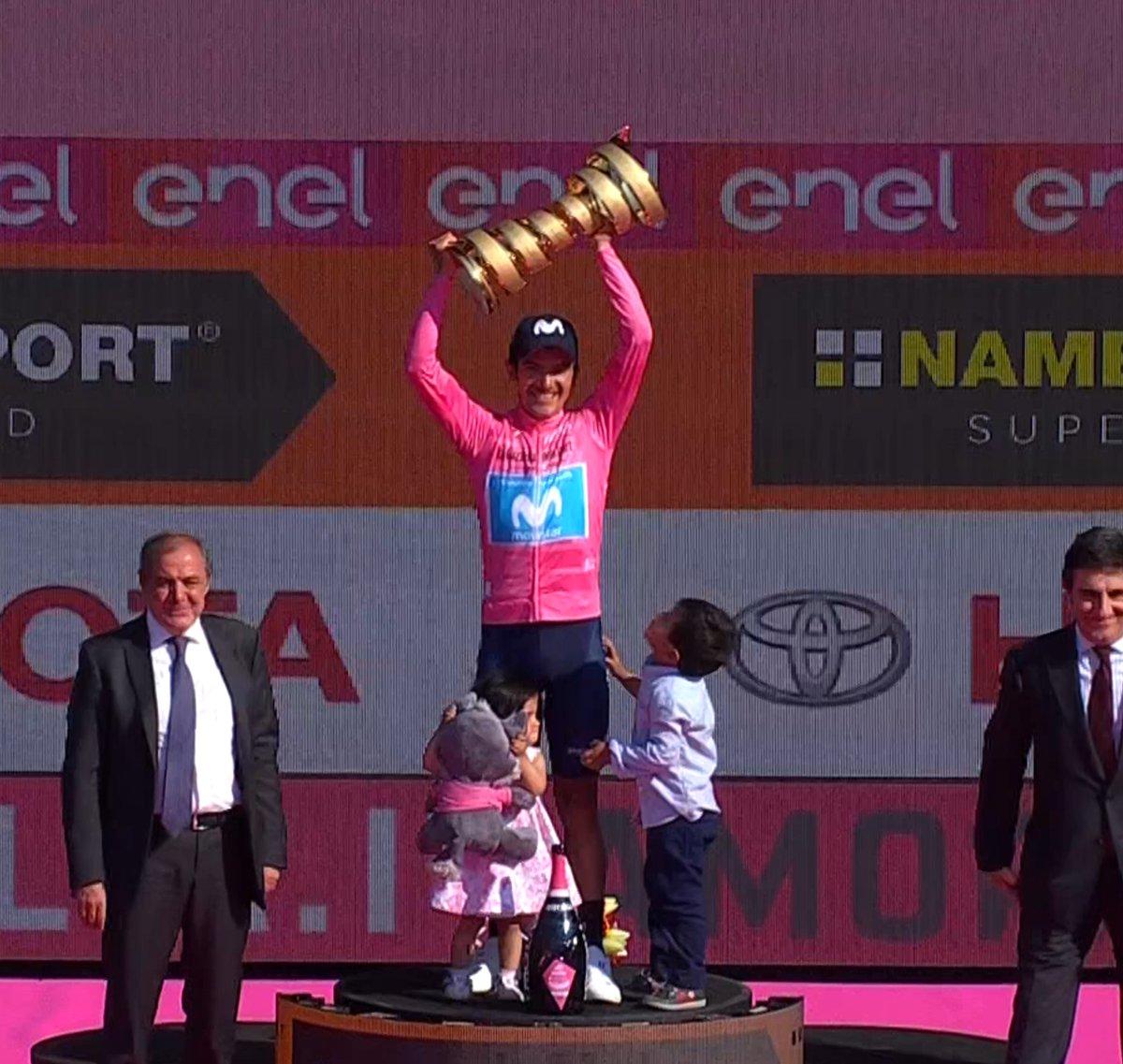 Podium du classement général du Giro