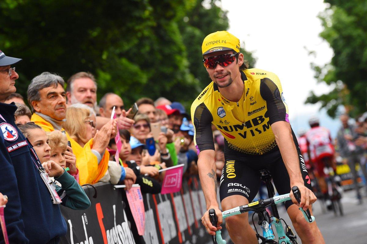 Primoz Roglic avant l'étape du Giro