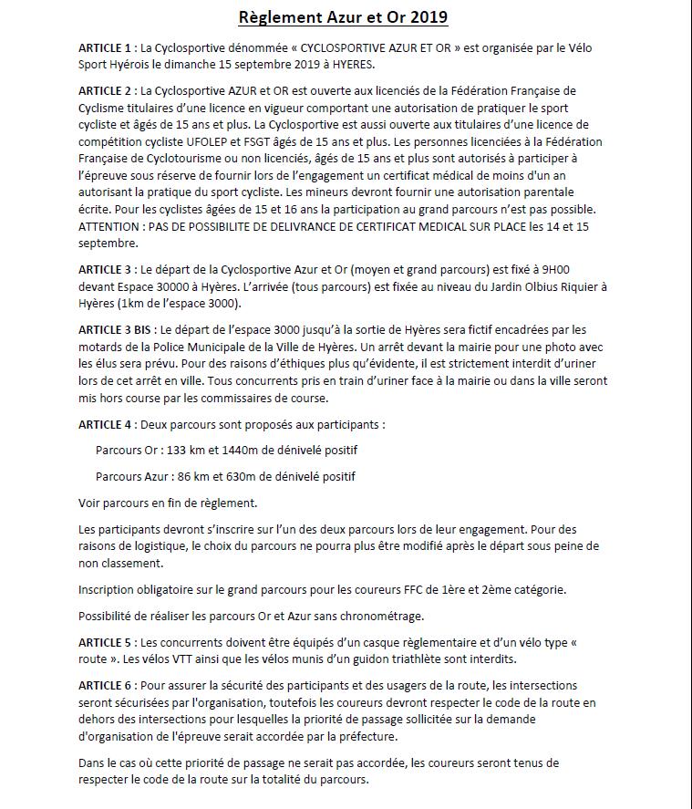Reglements Azur et Or 2019 1-3