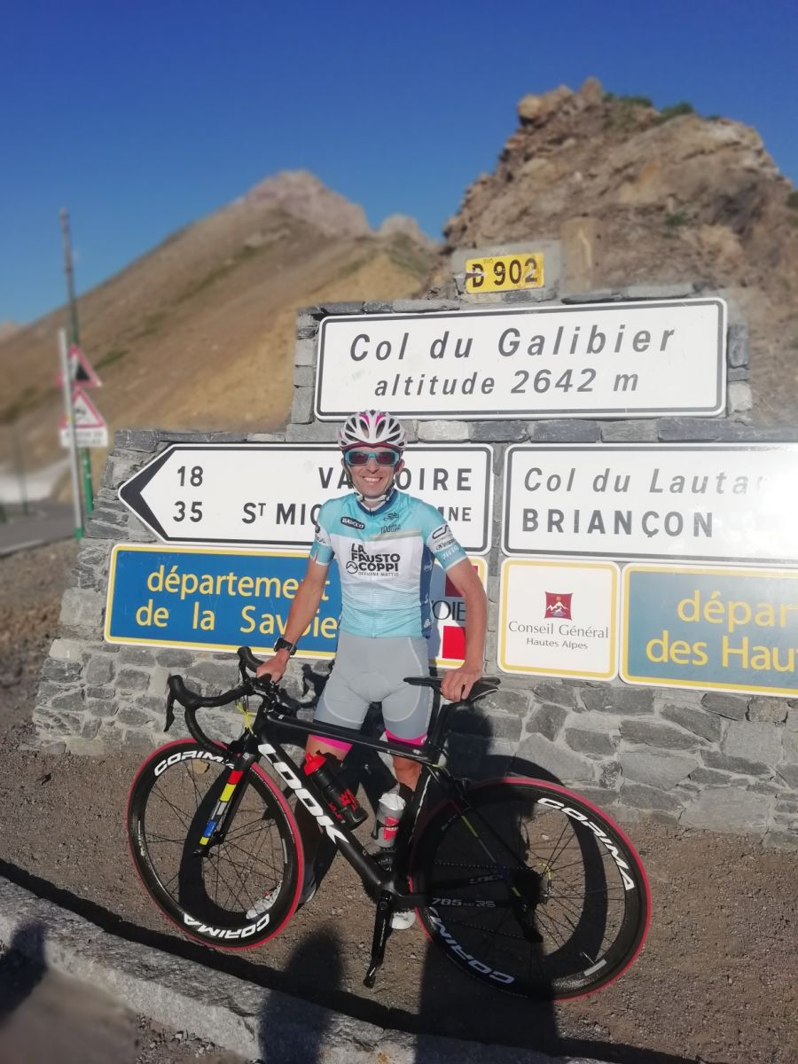 Renaud Castiglioni au sommet du Galibier