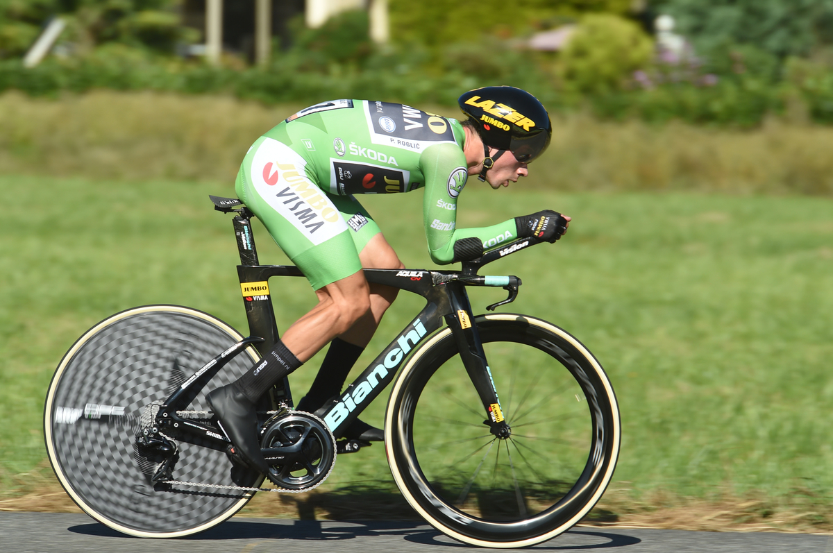 Roglic en plein effort