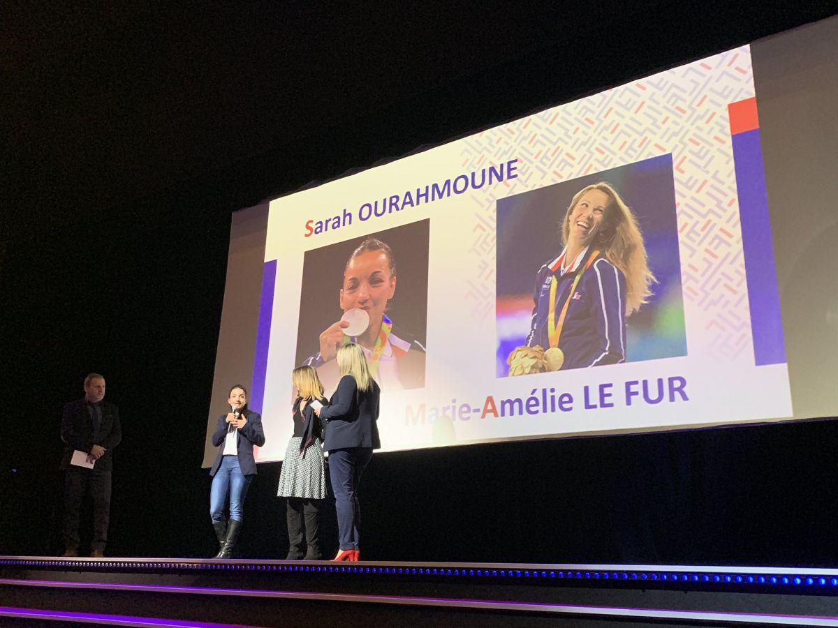 Sarah Ourahmoune et Marie-Amélie Le Fur