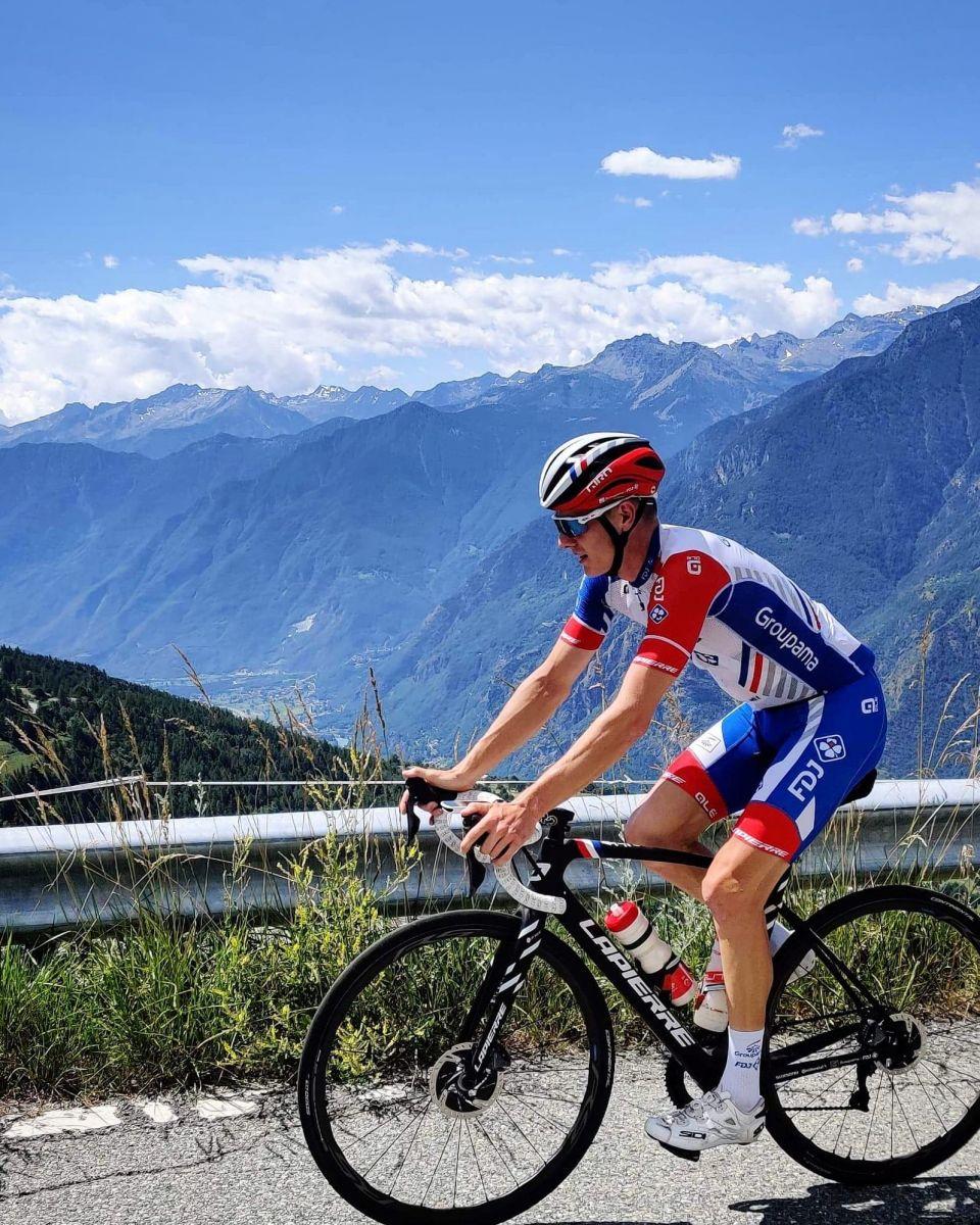 Simon Guglielmi en stage à la montagne