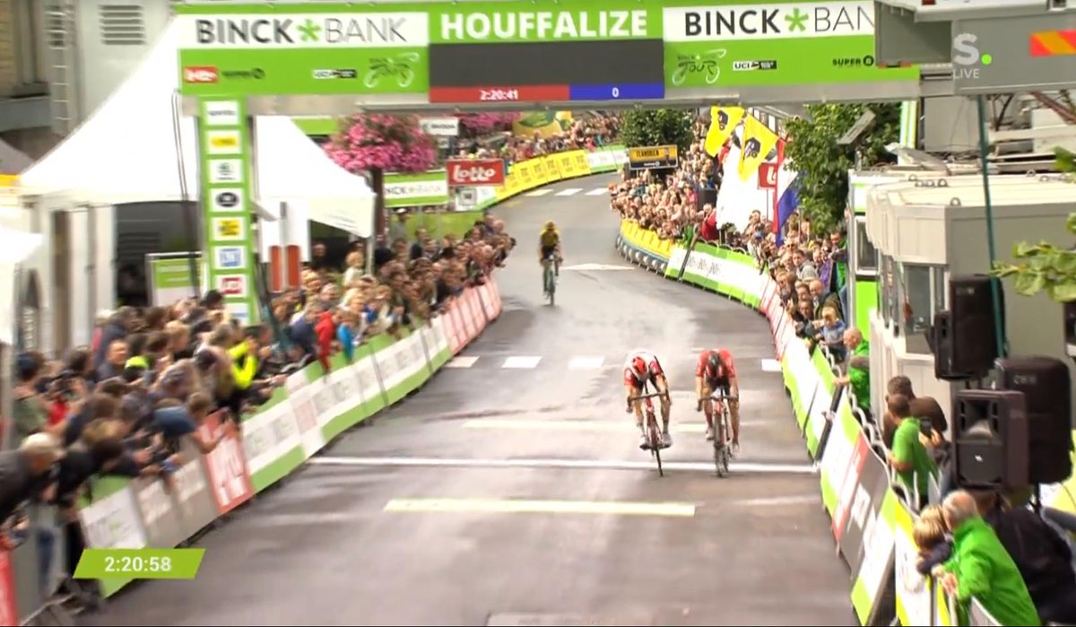 Sprint serré entre Wellens et Hirschi