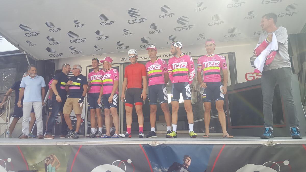 Sylvain Chavanel sur le podium