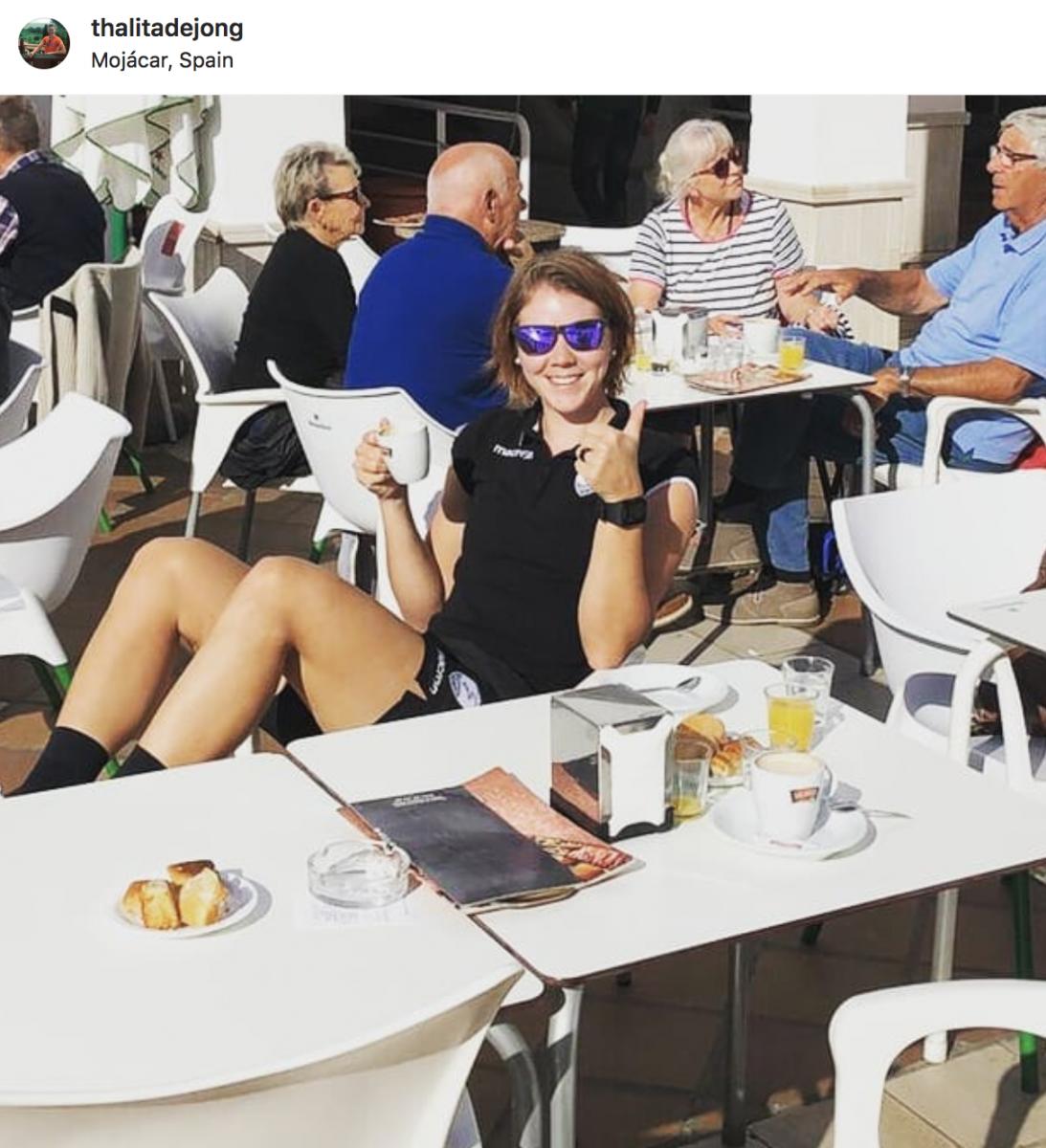 Thalita De Jong en jour de repos