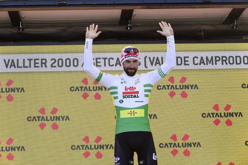 Thomas De Gendt (Lotto Soudal) leader du classement général au départ de la 4ème étape