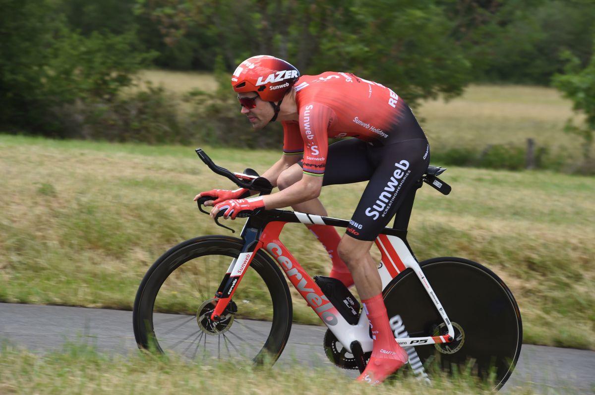 Tom Dumoulin sur le chrono du Dauphiné