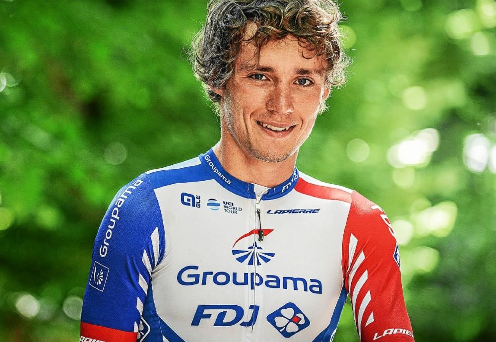 Valentin Madouas avec le maillot de la Groupama FDJ pour à l'aune de sa seconde année professionnelle avec la formation dirigée par Marc Madiot