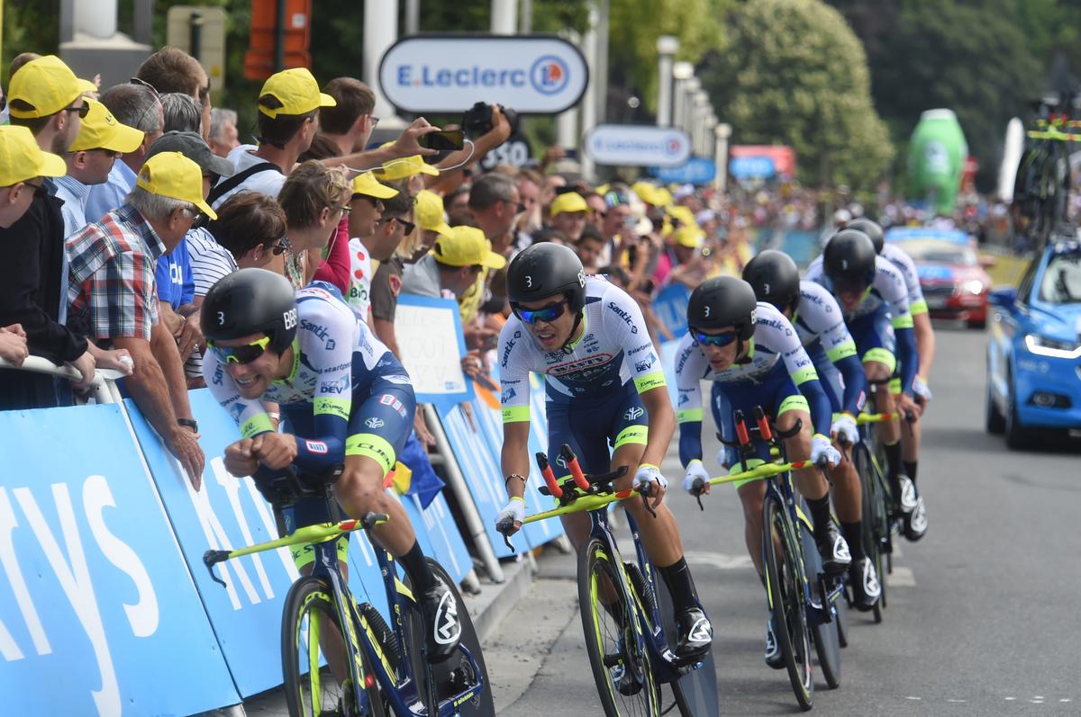Wanty-Gobert sur le chrono par équipe du Tour