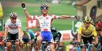 David Gaudu lors de sa victoire d'étape sur le Tour de Romandie 2019