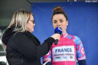 Marion Hérault speaker du Tour de Bretagne