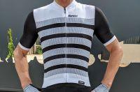 Test de la combinaison Genio - cuissard+maillot Santini