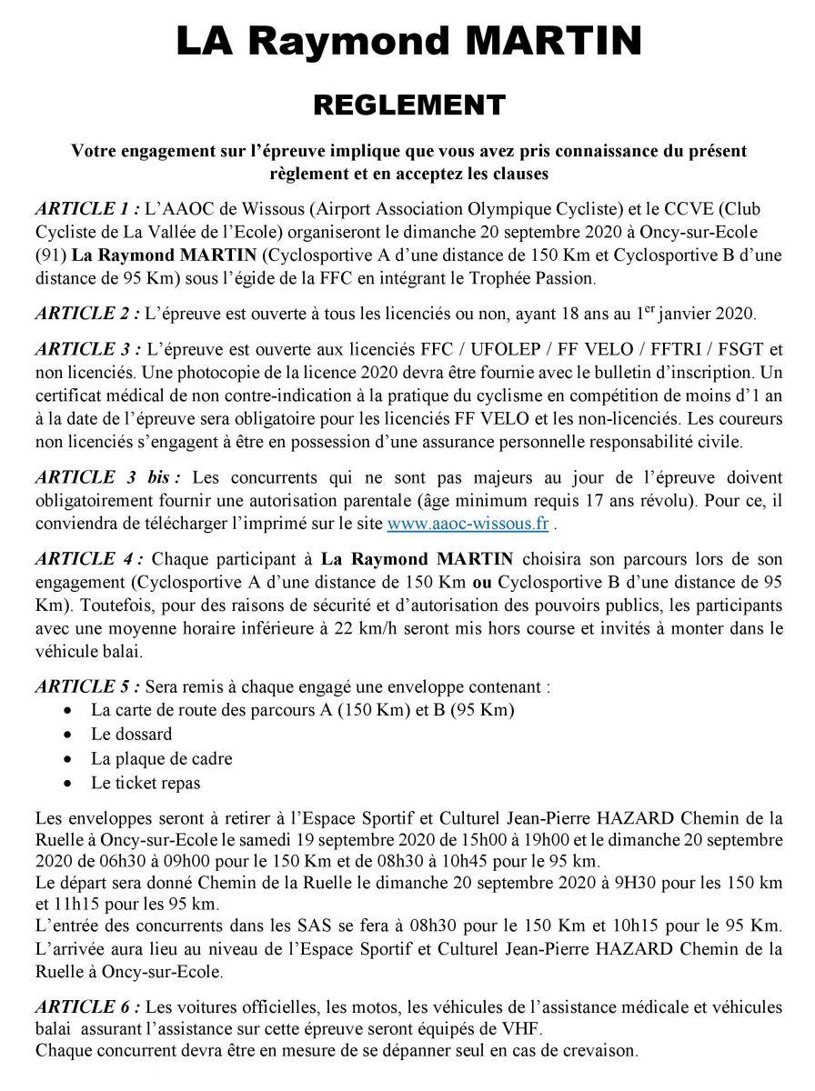 Règlement de La Raymond Martin 2020-page-001