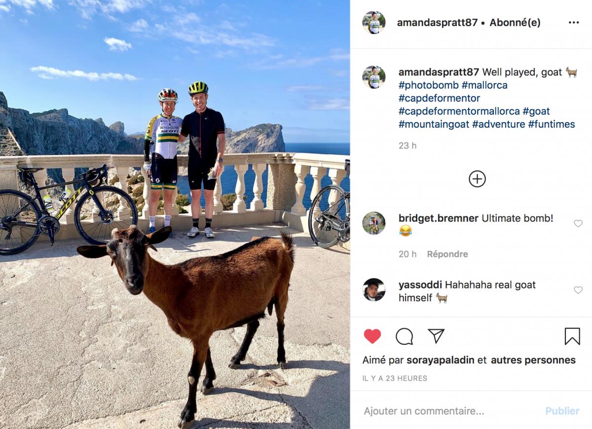 Amanda Spratt à Majorque