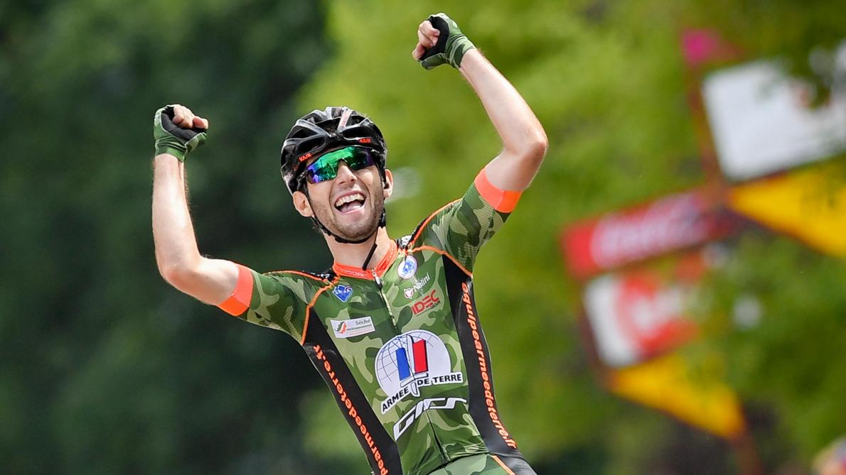 Benjamin Thomas vainqueur sur le Tour de Wallonie en 2017 sous le maillot de l'armée de terre