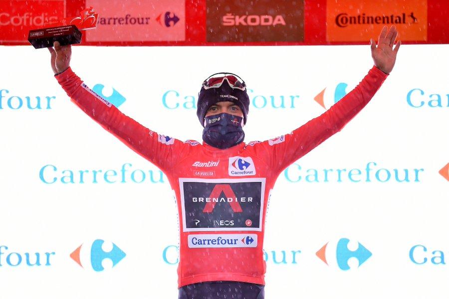 Carapaz en rose sur la Vuelta