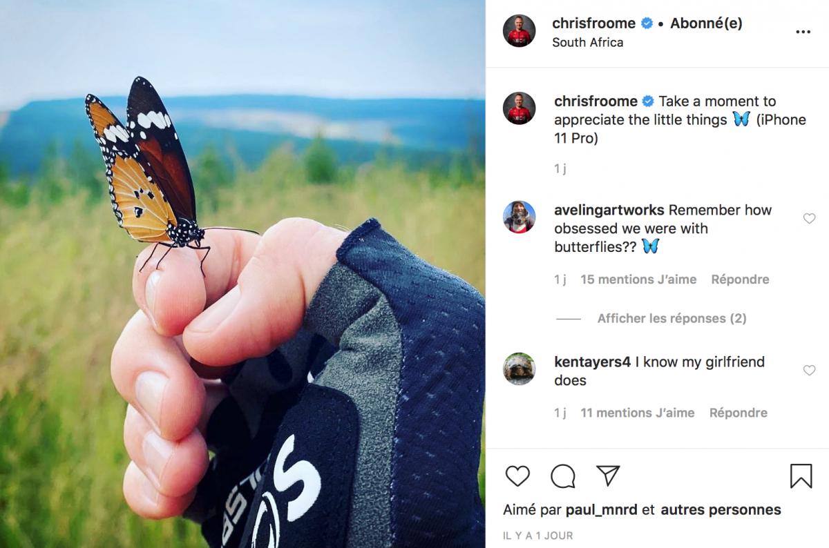 Chris Froome profite des petites choses